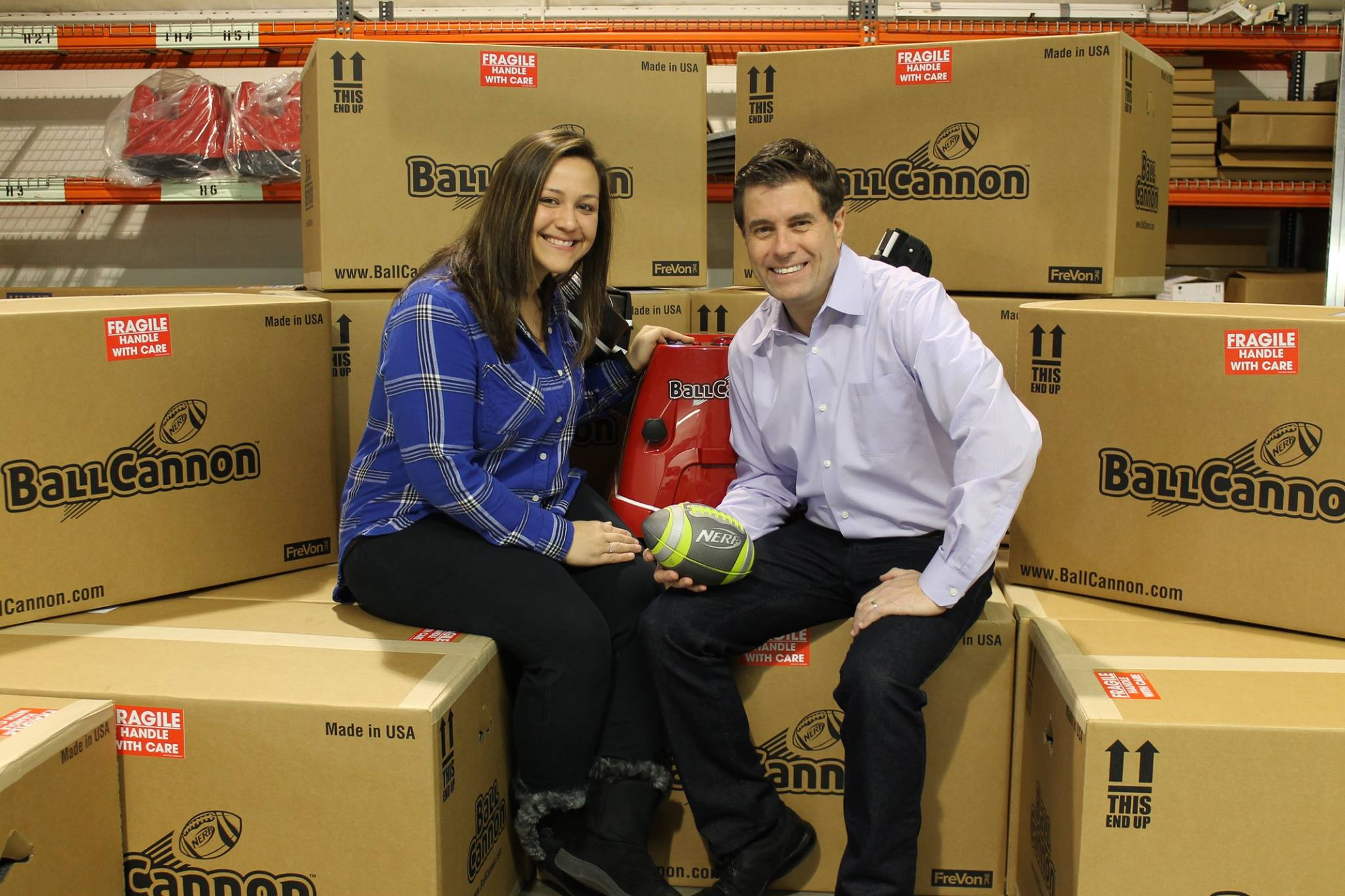 Kiana Clark and Fred Hafer, Jr. with our first shipment!
