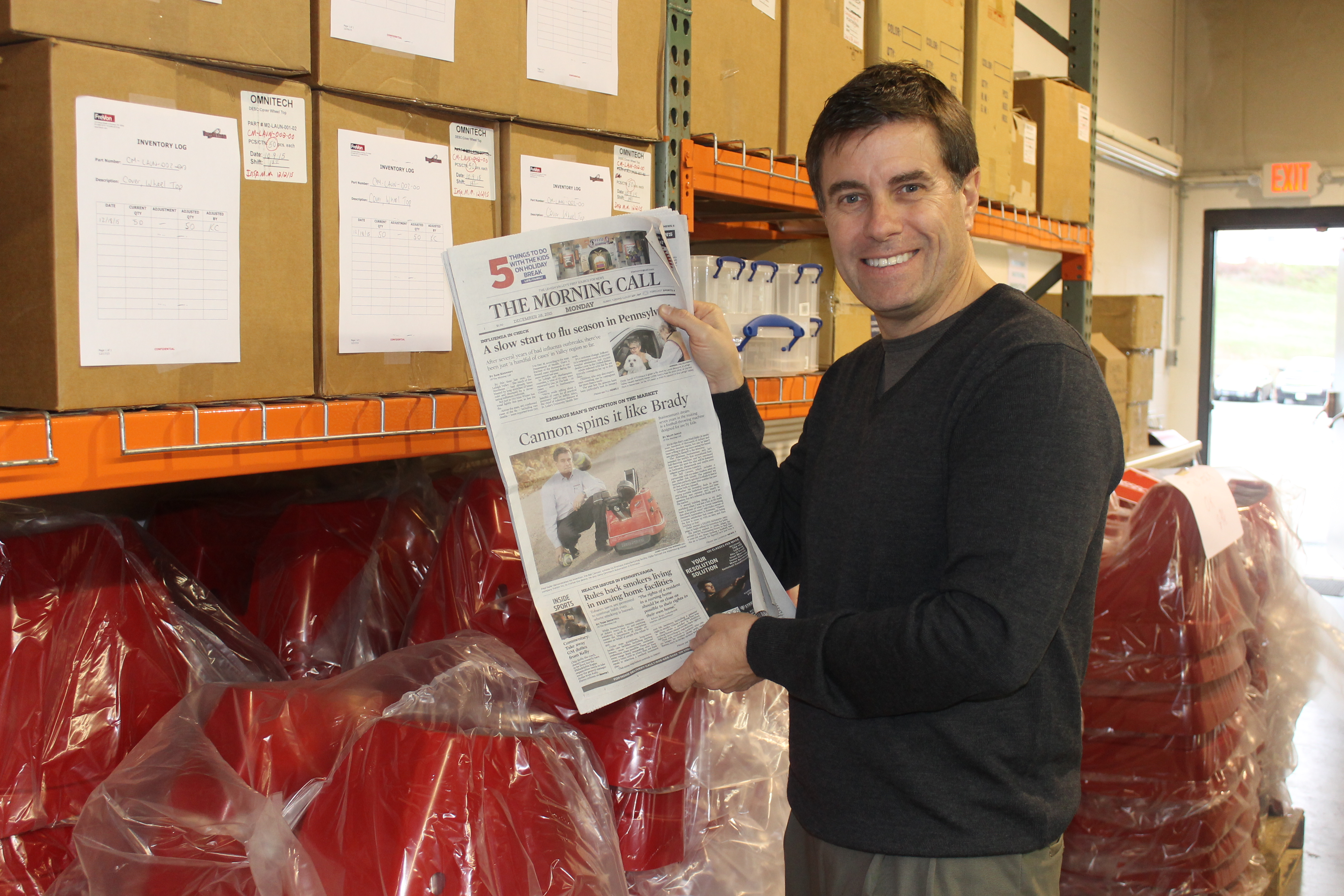 Fred Hafer, Jr. with our front page article in the Allentown Morning Call!
