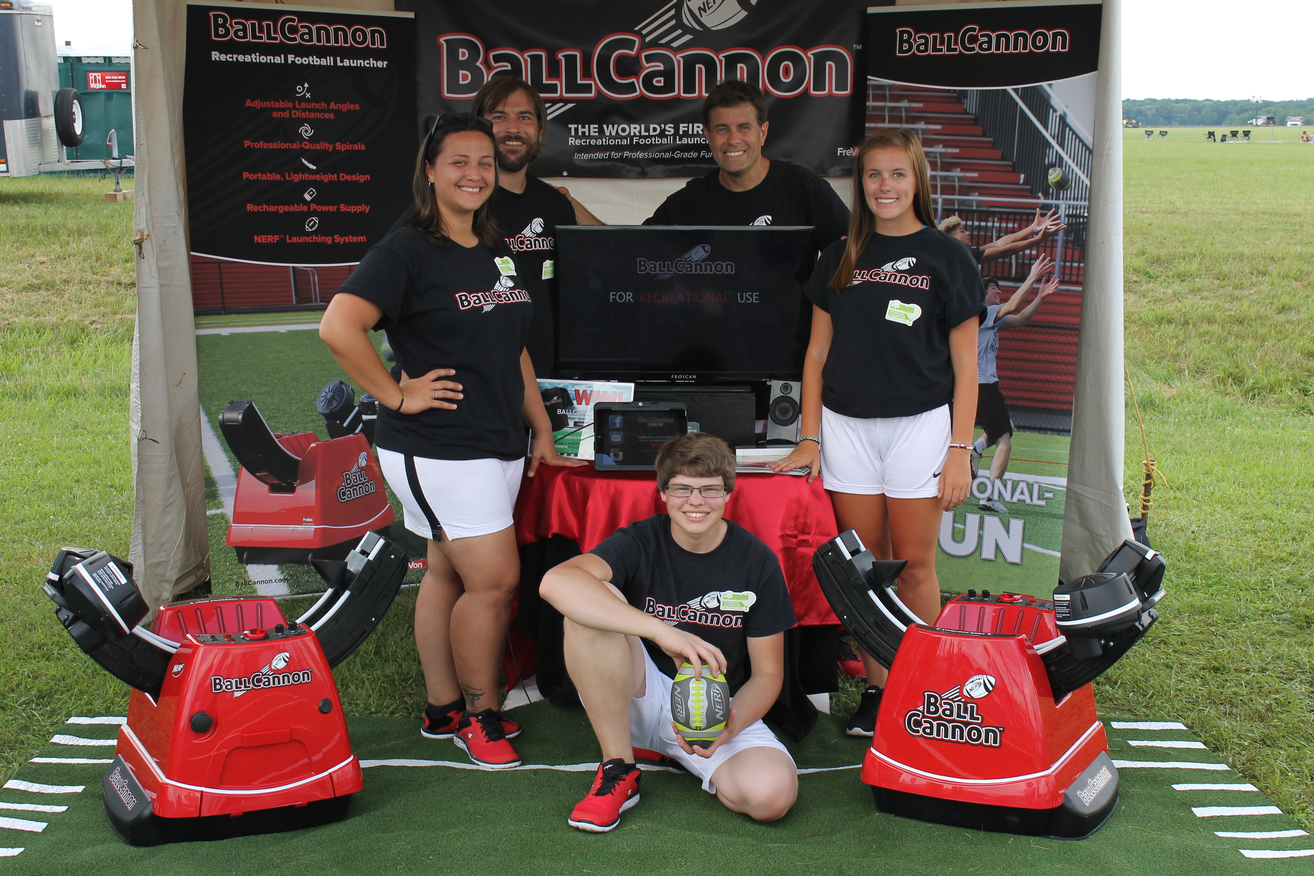 The Ball Cannon team pose for a photo at the NJ Balloon Festival